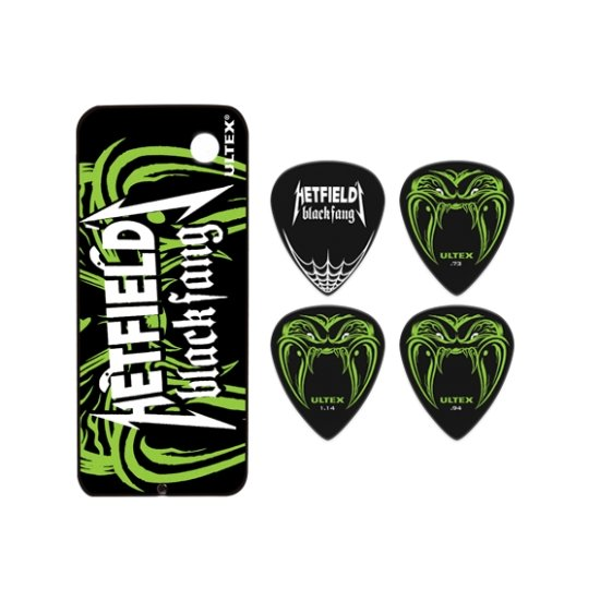 Set of 6 Guitar Picks James Hetfield DUNLOP METALLICA 0.94mm -  Thin metal box