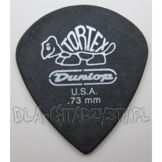 "Guitar Pick Dunlop TORTEX ""PITCH BLACK"" JAZZ 0.73mm"