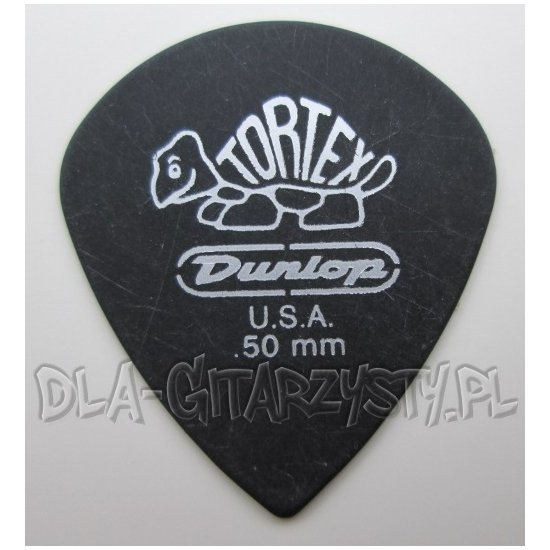 "Guitar Pick Dunlop TORTEX ""PITCH BLACK"" JAZZ 0.50mm"