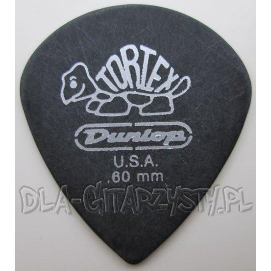 "Guitar Pick Dunlop TORTEX ""PITCH BLACK"" JAZZ 0.60mm"