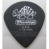 "Guitar Pick Dunlop TORTEX ""PITCH BLACK"" JAZZ 1.14mm"
