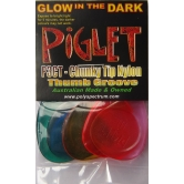 5 picks Piglet 3 Hard Chunky Tip with thumb grip, Polycarbonate, rhythm, bass plectrum