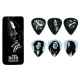 Set of 6 Guitar Picks Bob Marley Silver - HEAVY - Tnin metal box